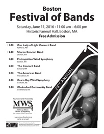 2016 Boston Festival of Bands Poster