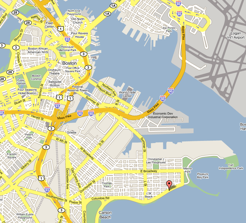 map of Boston MA
